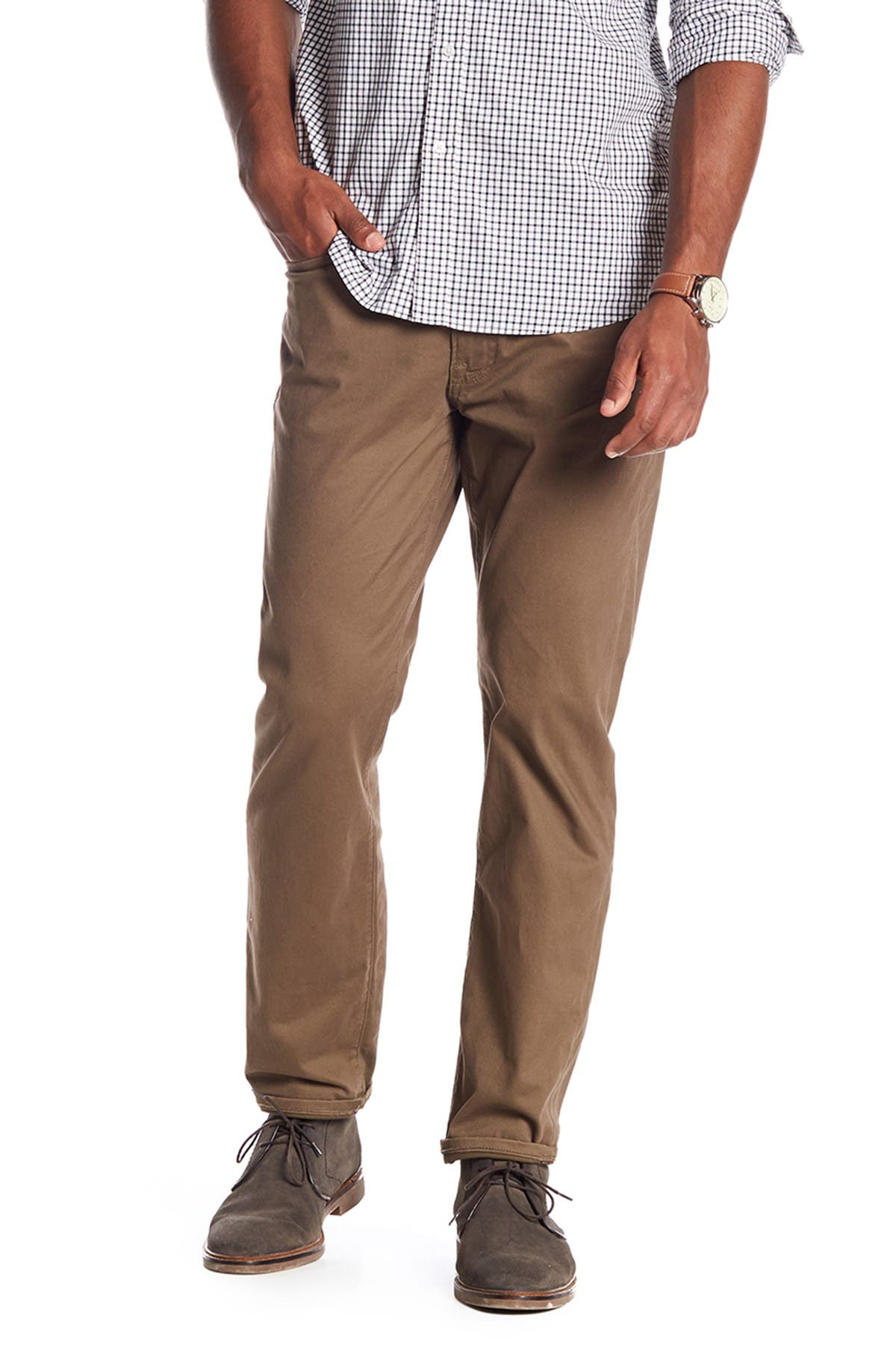 "Image of Lucky Brand 121 Heritage Slim Fit Pants - 30-34"" Inseam"