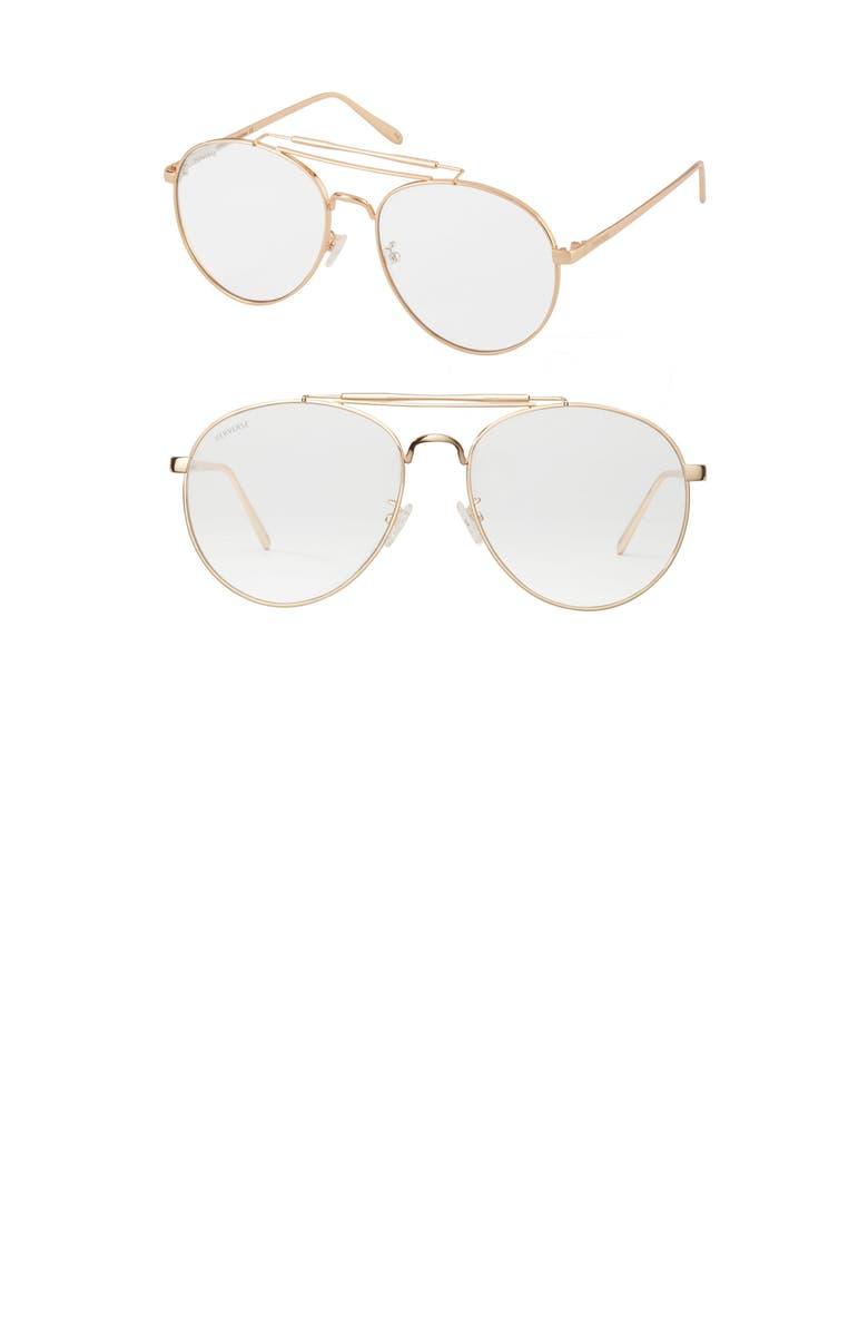 PERVERSE Crisp Aviator Sunglasses, Main, color, 100