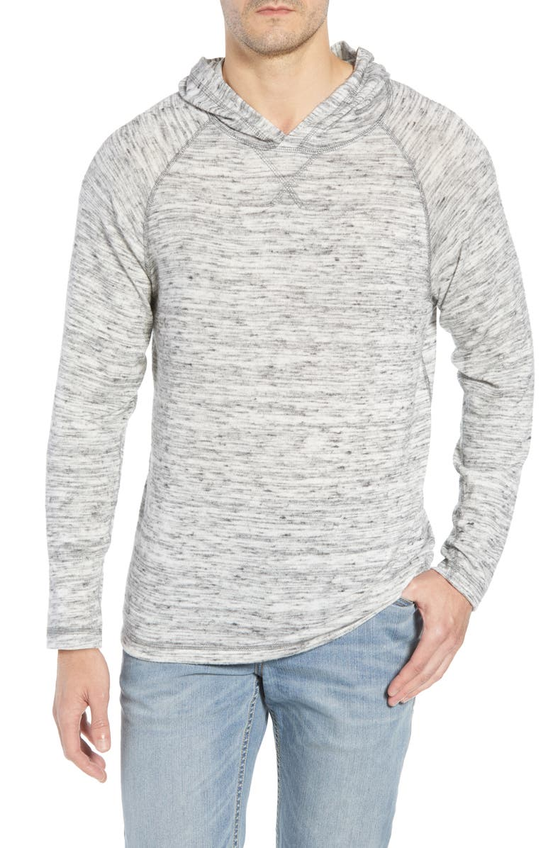 TOMMY BAHAMA Leeward Cove Classic Fit Hoodie, Main, color, GREY HEATHER