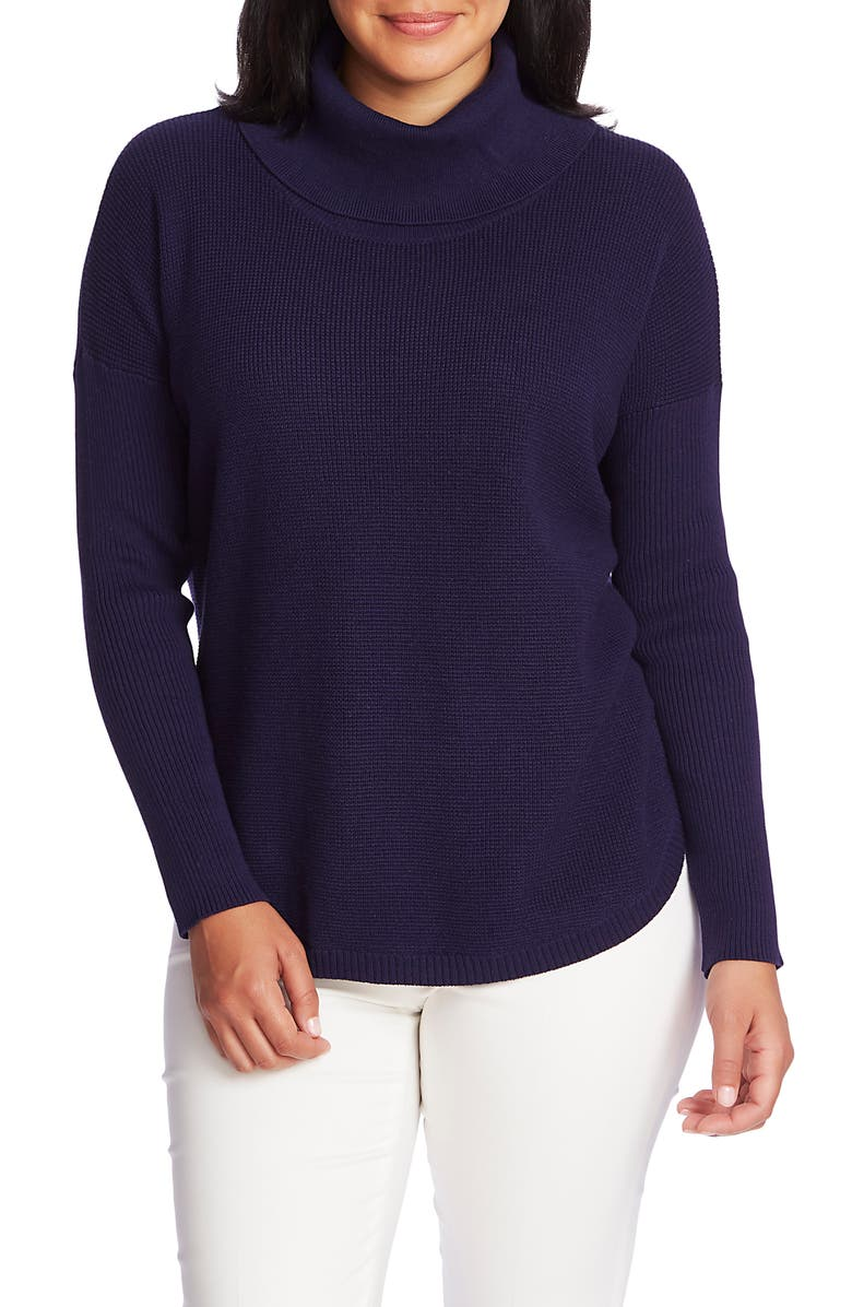 CHAUS Turtleneck Sweater, Main, color, EVENING NAVY
