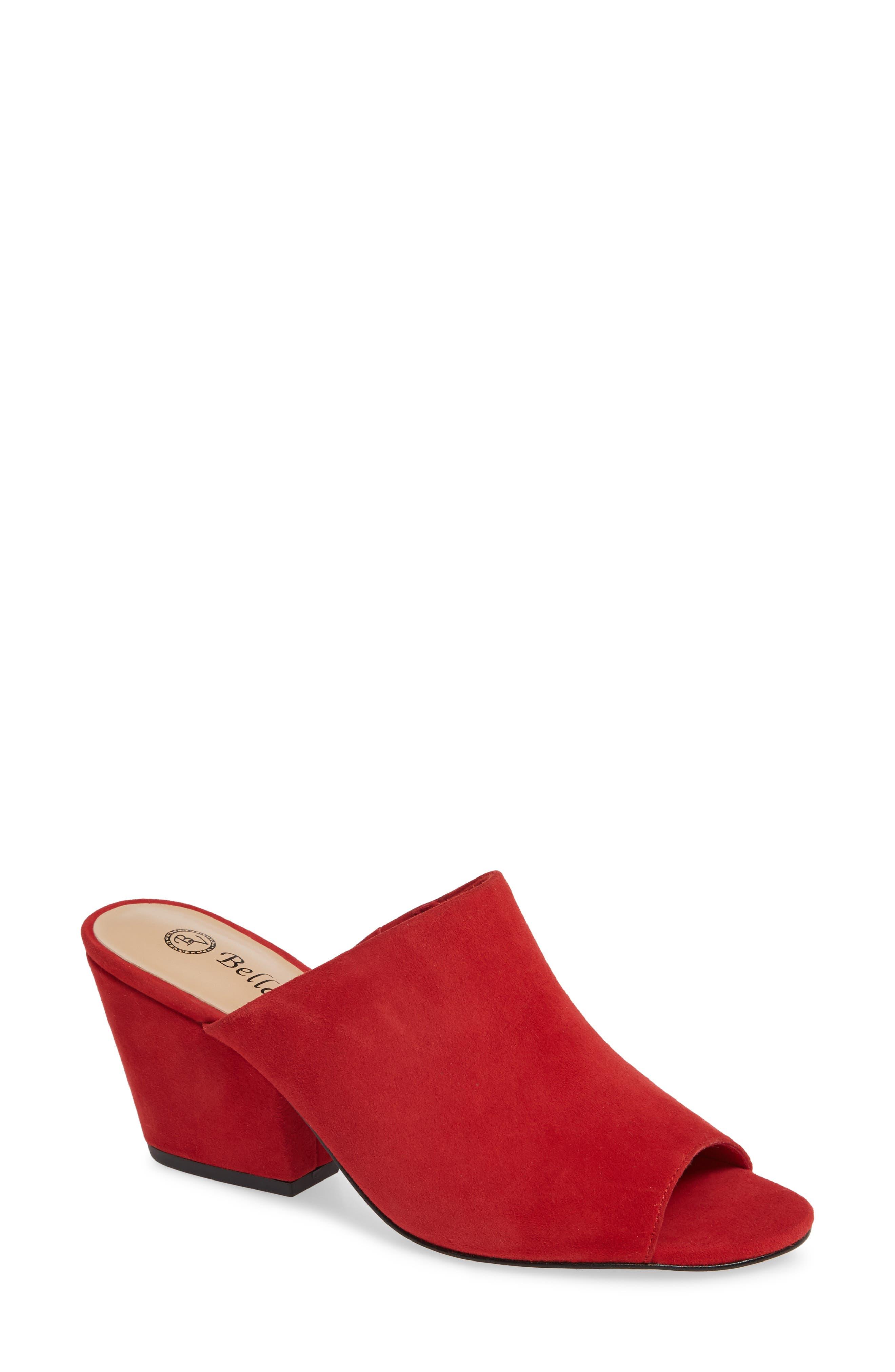 Bella Vita Kathy Open Toe Mule W - Red