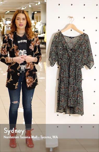Liva Floral Print Chiffon Dress, sales video thumbnail