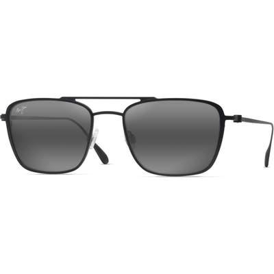 Maui Jim Ebb & Flow 5m Polarized Navigator Sunglasses - Matte Black