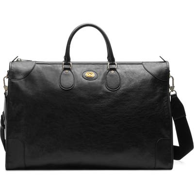 Gucci Large Leather Tote - Black