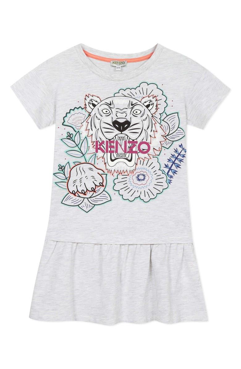 KENZO Multi Iconic Graphic Dress, Main, color, MARL GREY