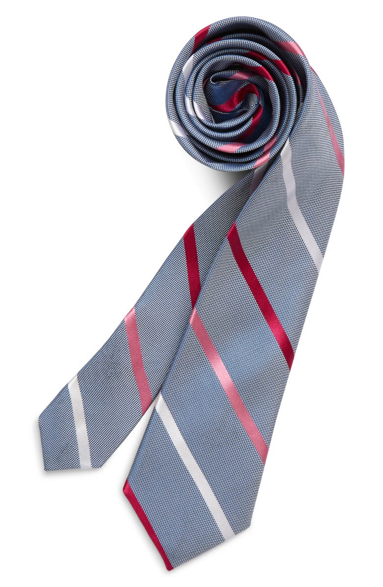NORDSTROM Ruben Stripe Silk Tie, Main, color, PINK