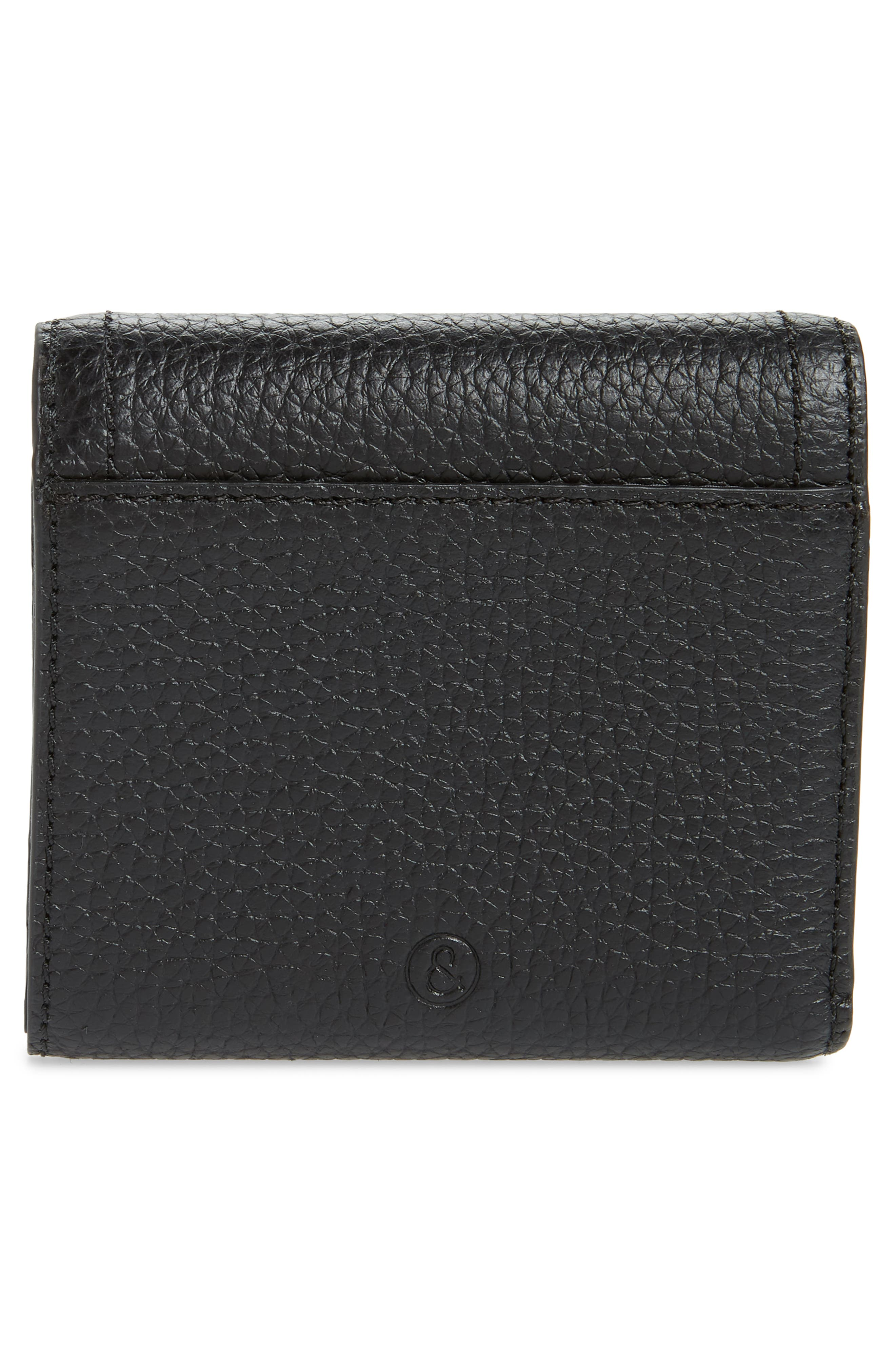 ,                             Tracy Leather Trifold Wallet,                             Alternate thumbnail 4, color,                             BLACK