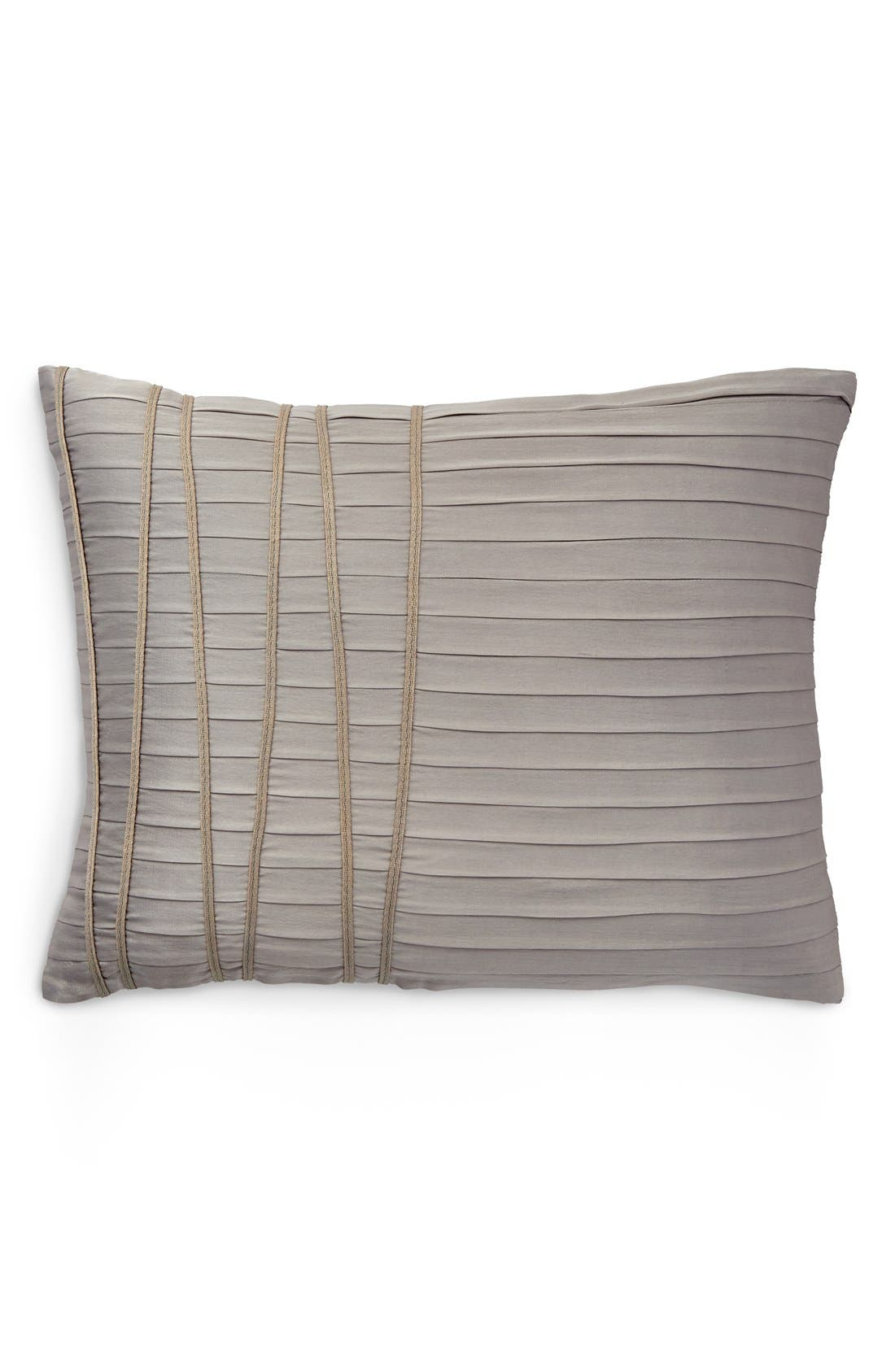 "Image of Donna Karan Silver Reflection Accent Pillow - 16""x20"""