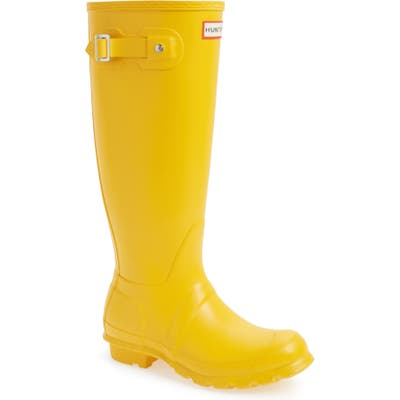 Hunter Original Tall Waterproof Rain Boot, Yellow