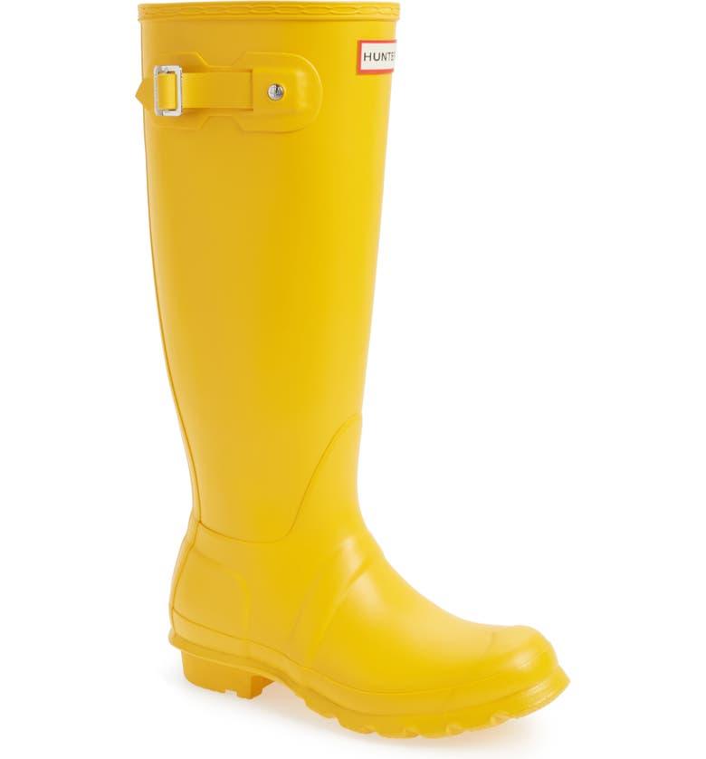 HUNTER Original Tall Waterproof Rain Boot, Main, color, YELLOW/ YELLOW