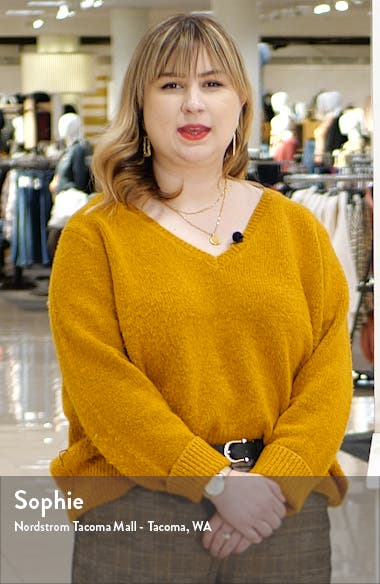 Caspian Stripe V-Neck Sweater, sales video thumbnail