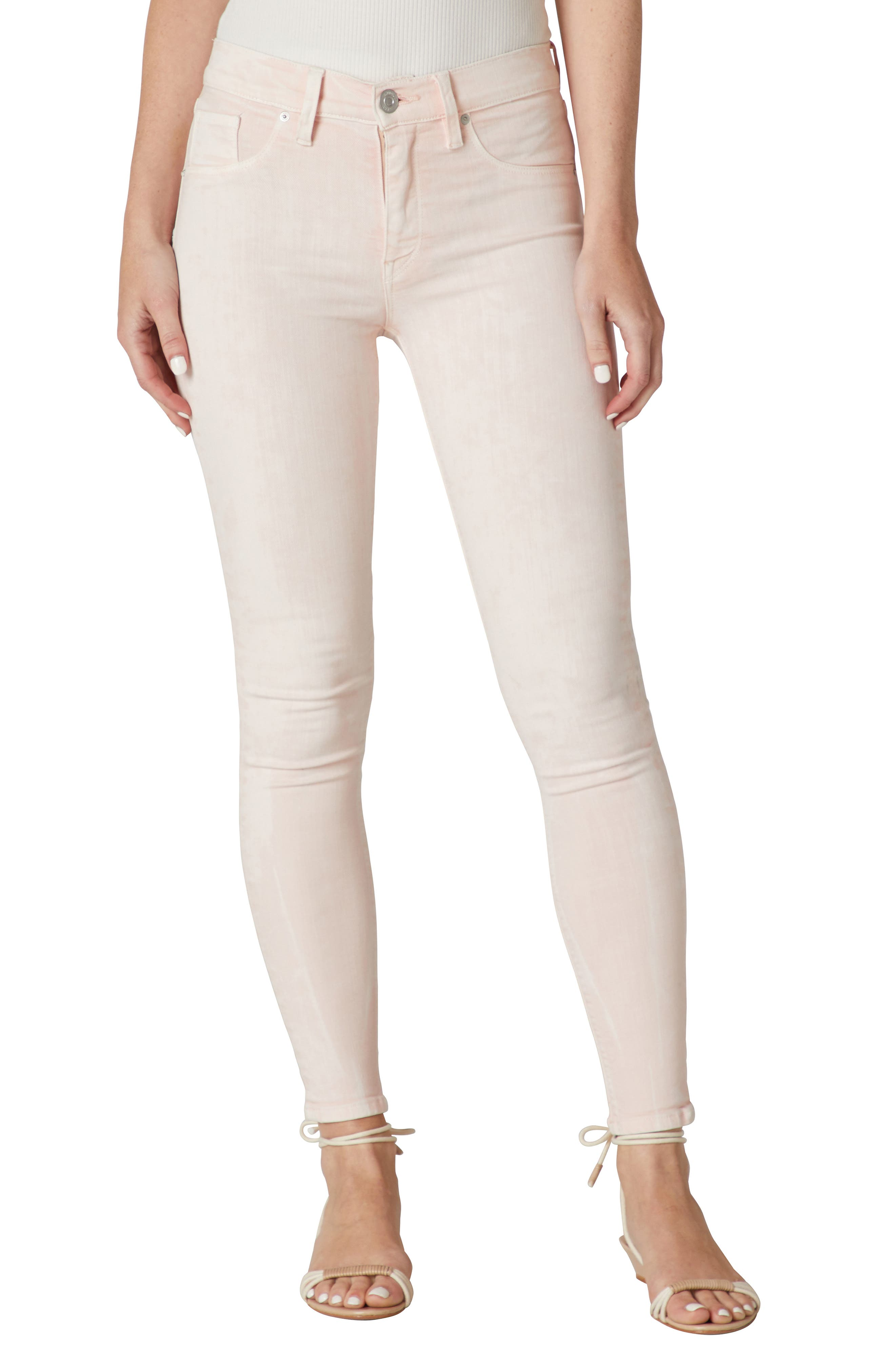 Nico Coated Mid Rise Ankle Skinny Jeans