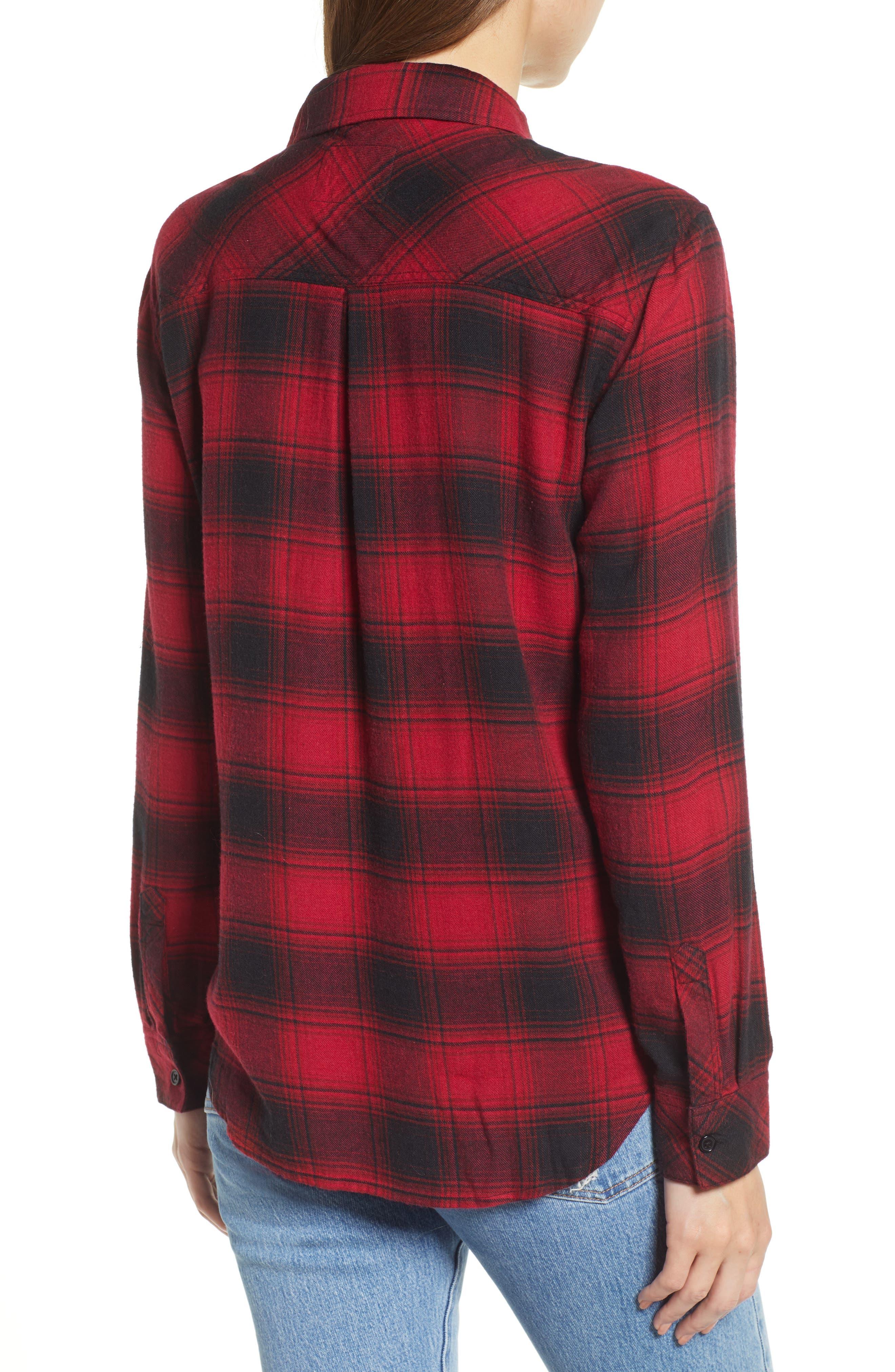 ,                             Hunter Plaid Shirt,                             Alternate thumbnail 218, color,                             011