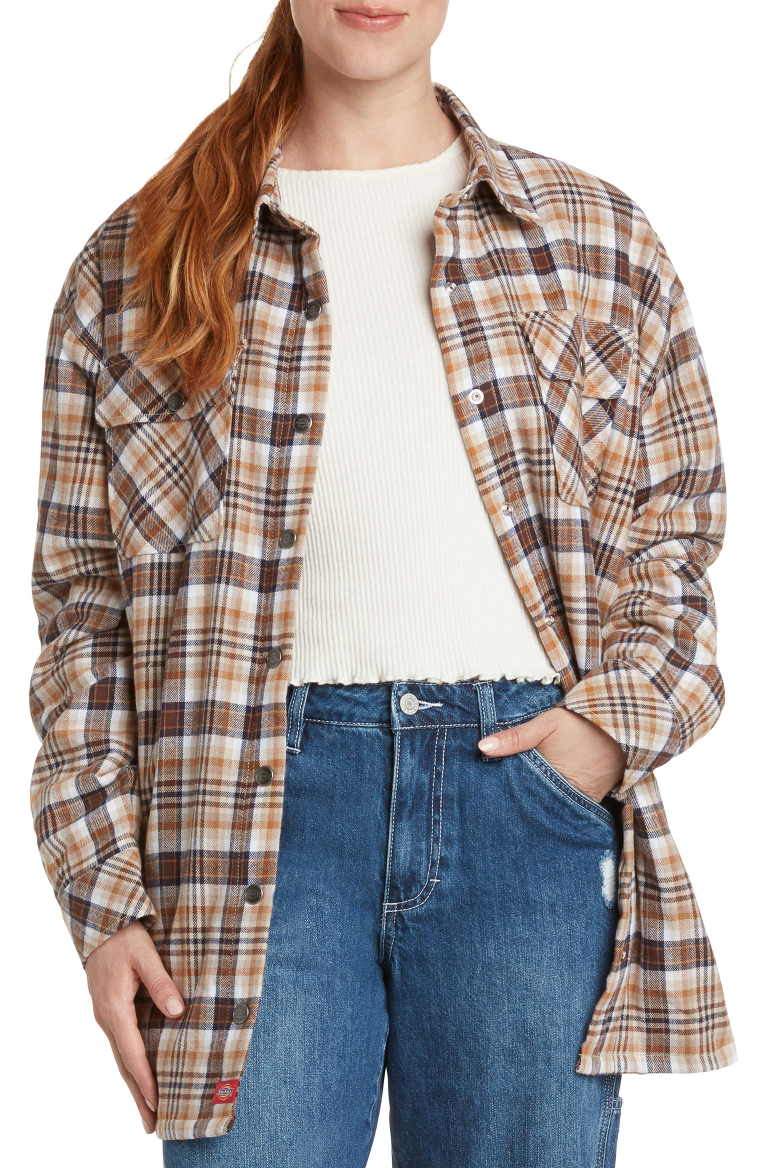 Oversize Snap Front Cotton Shacket