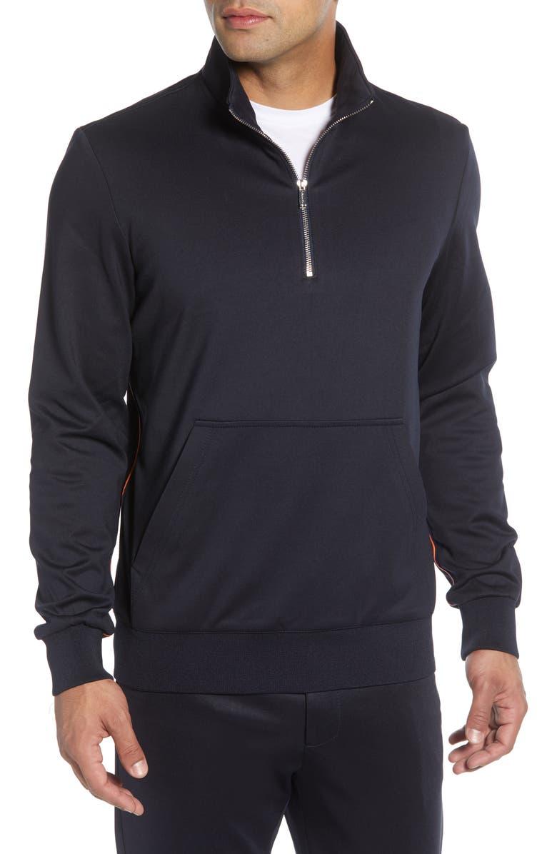 BUGATCHI Half Zip Pullover, Main, color, 411