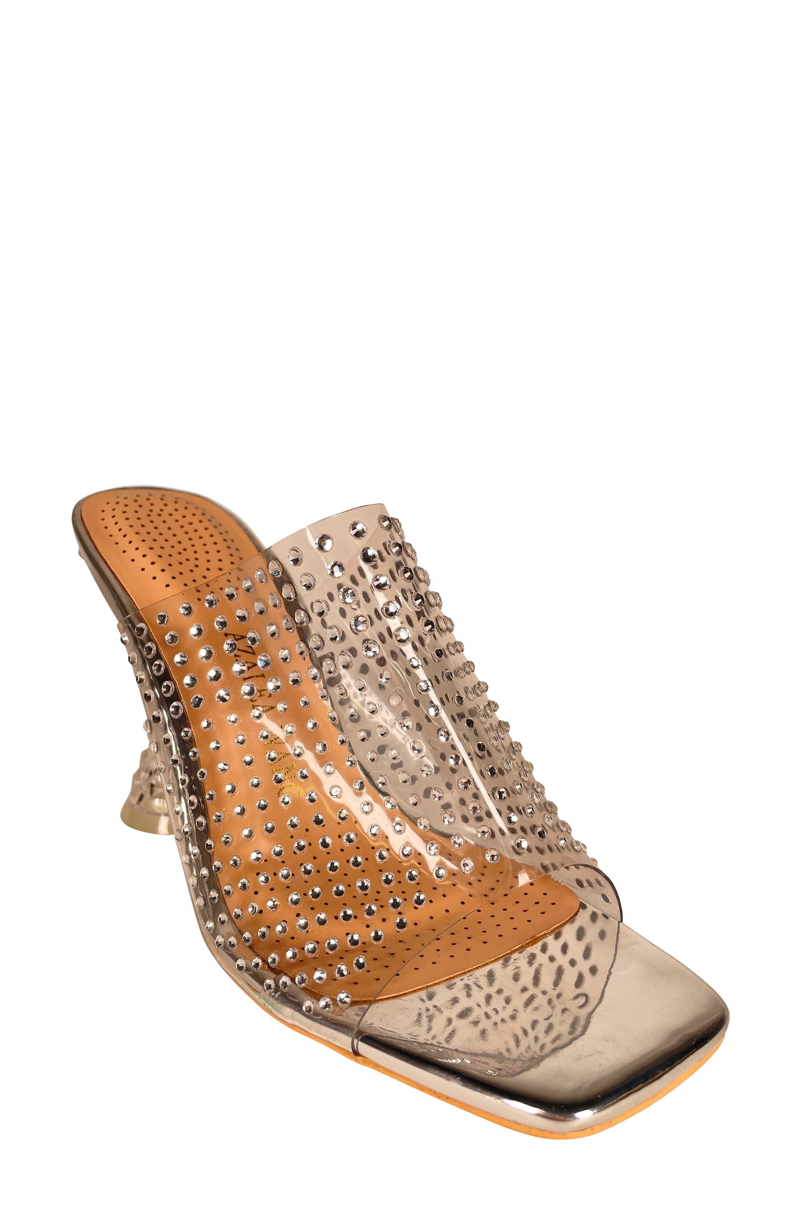 Static Studded Translucent Sandal