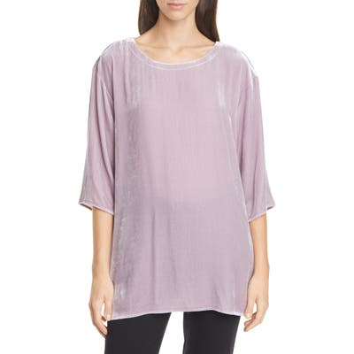 Eileen Fisher Ballet Neck Boxy Top, Pink