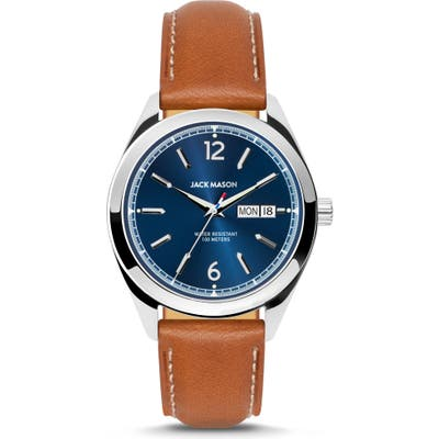Jack Mason Canton Leather Strap Watch, 40Mm