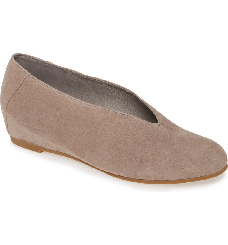 EILEEN FISHER Patch Flat, Main, color, TAUPE SUEDE
