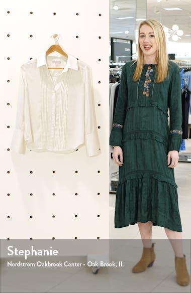 Pintuck Button-Up Blouse, sales video thumbnail