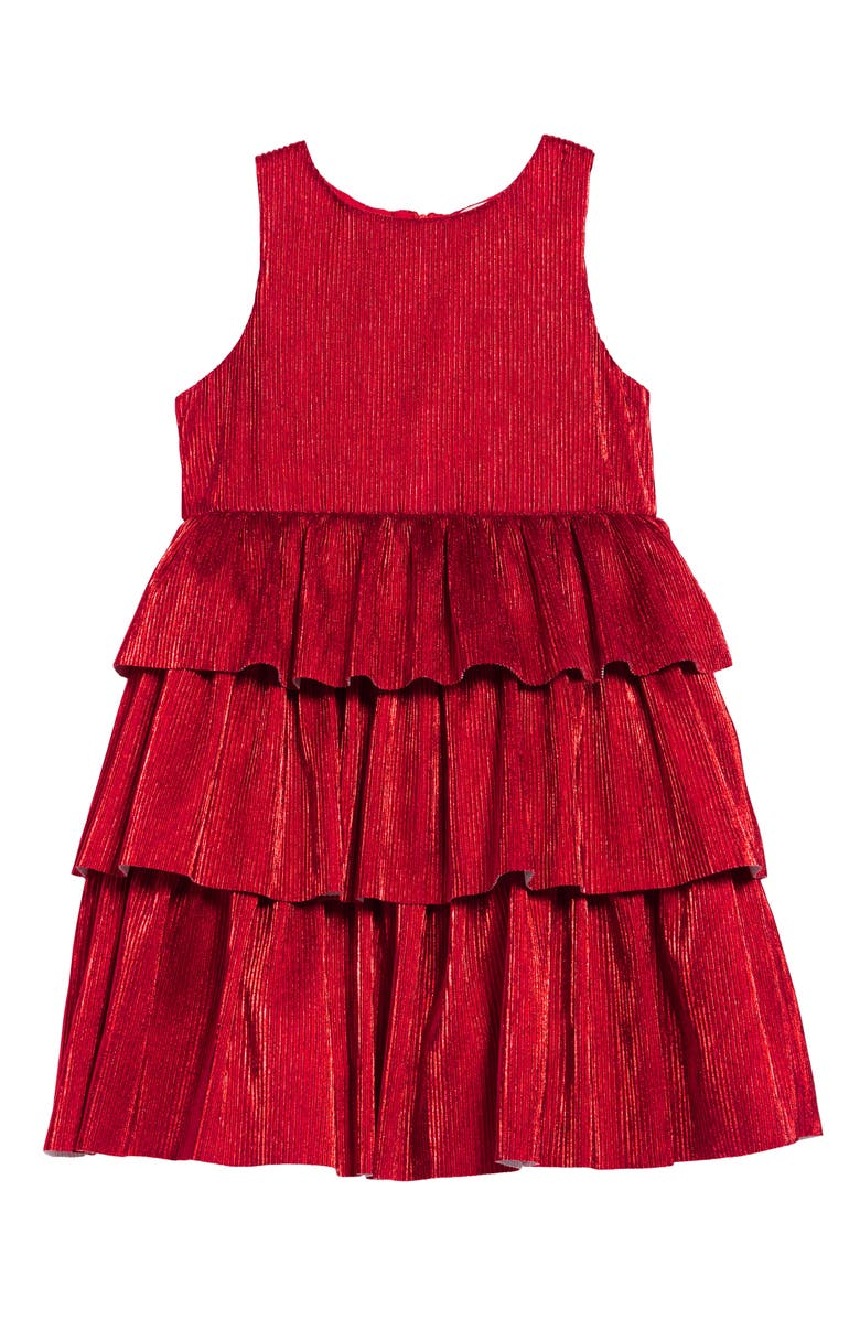MINI BODEN Sparkle Tiered Party Dress, Main, color, 614
