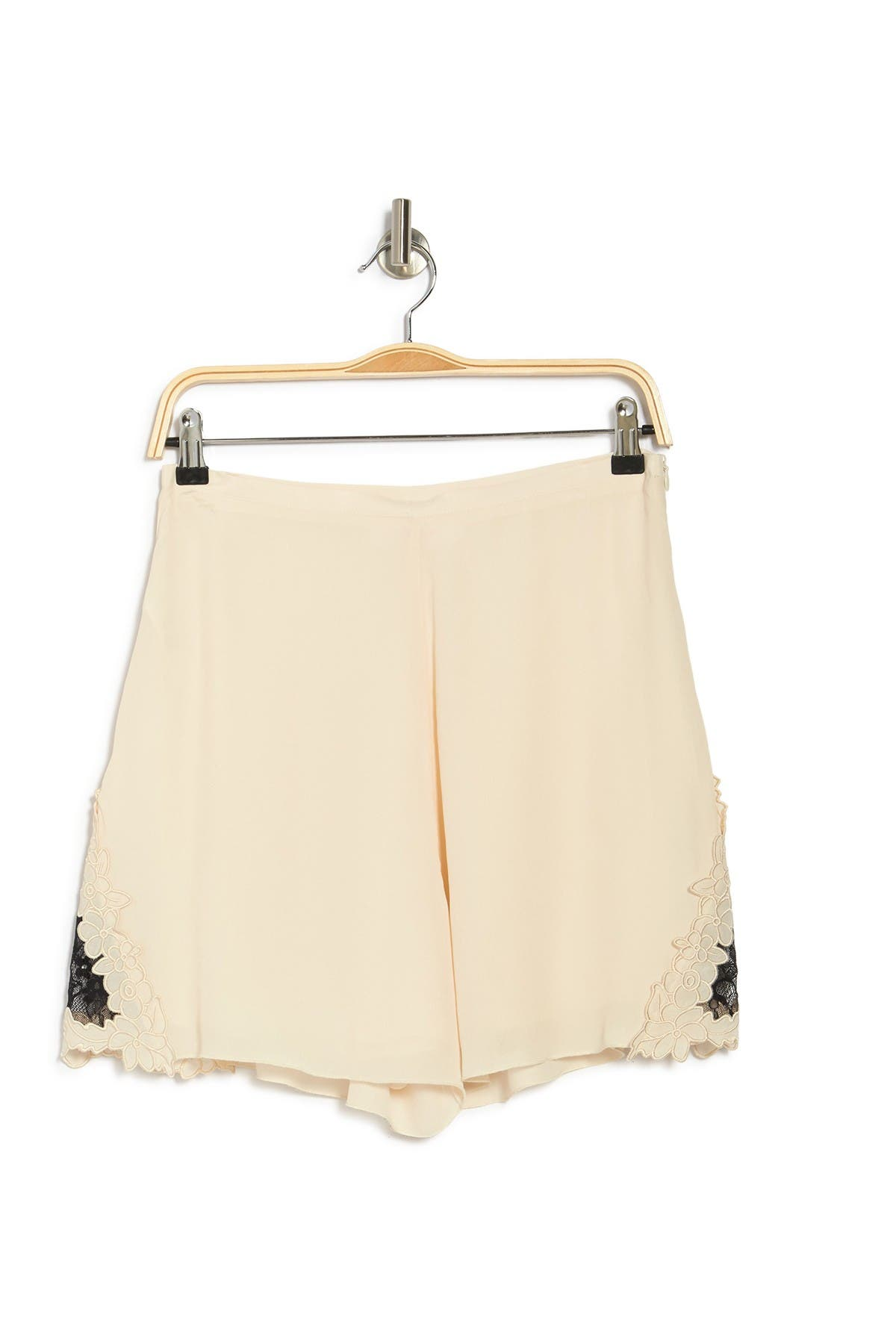 Image of See By Chloe High Waist Lace Trim Shorts