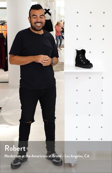 Whitney Faux Fur Trim High Top Sneaker, sales video thumbnail