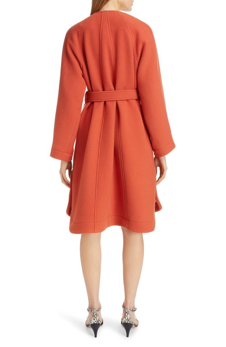 CHLOÉ Iconic Wool Blend Coat, Main, color, CHESTNUT ORANGE