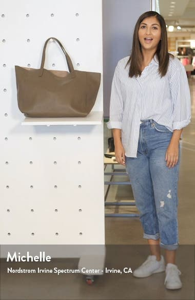 Violet Leather Tote, sales video thumbnail