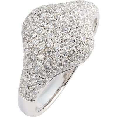 Bony Levy Pave Diamond Signet Ring (Nordstrom Exclusive)