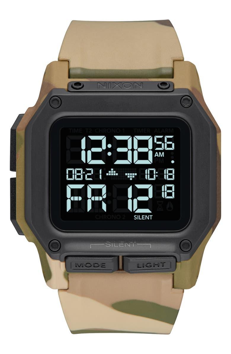 NIXON Regulus Digital Watch, 46mm, Main, color, CAMO/ BLACK/ CAMO