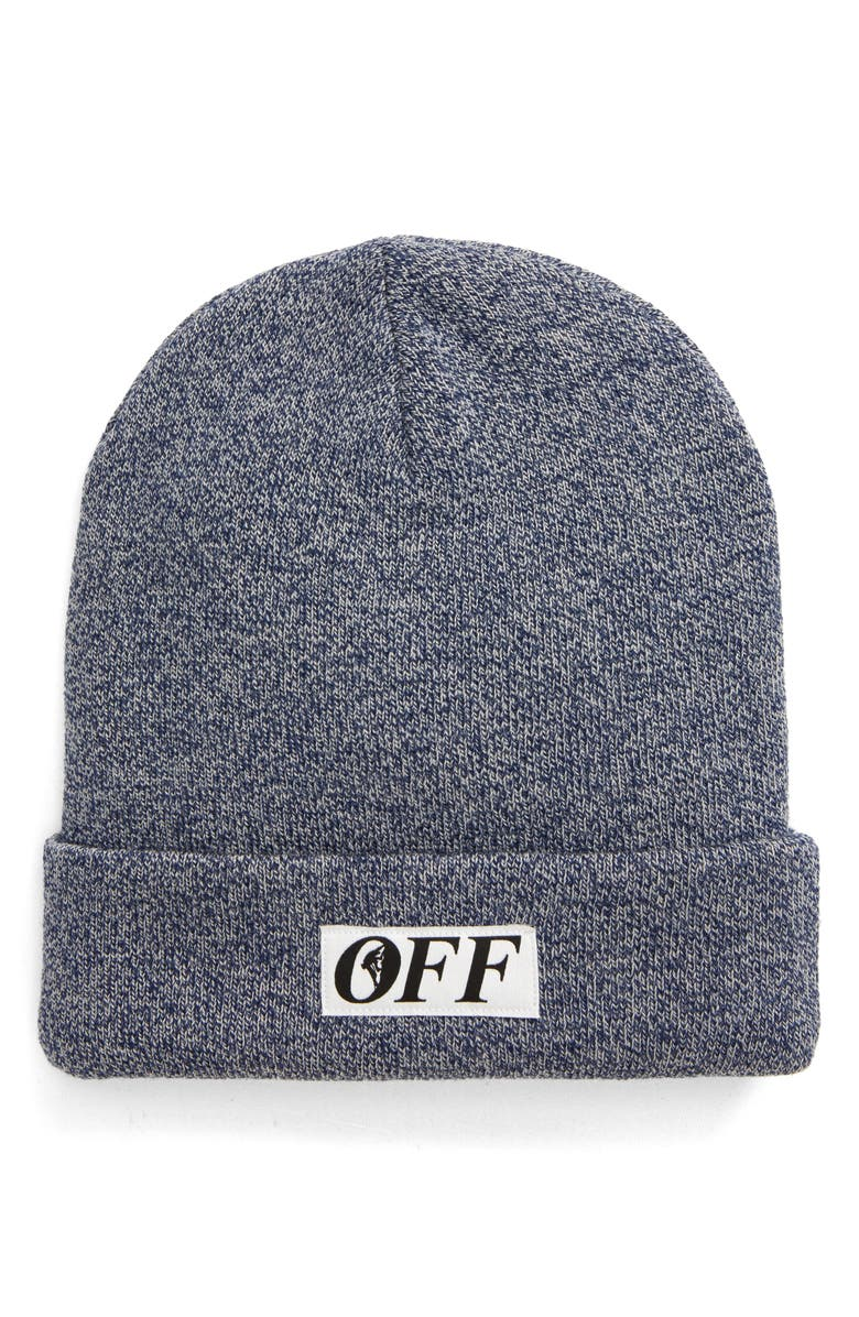 OFF-WHITE Equipment Wool Beanie, Main, color, BLUE
