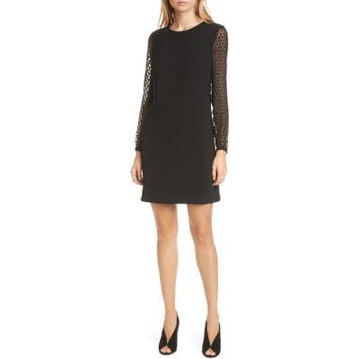 Judith & Charles Fusion B Long Sleeve Sheath Dress, Black