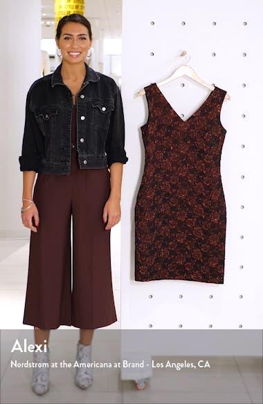 Metallic Floral Brocade Sleeveless Dress, sales video thumbnail