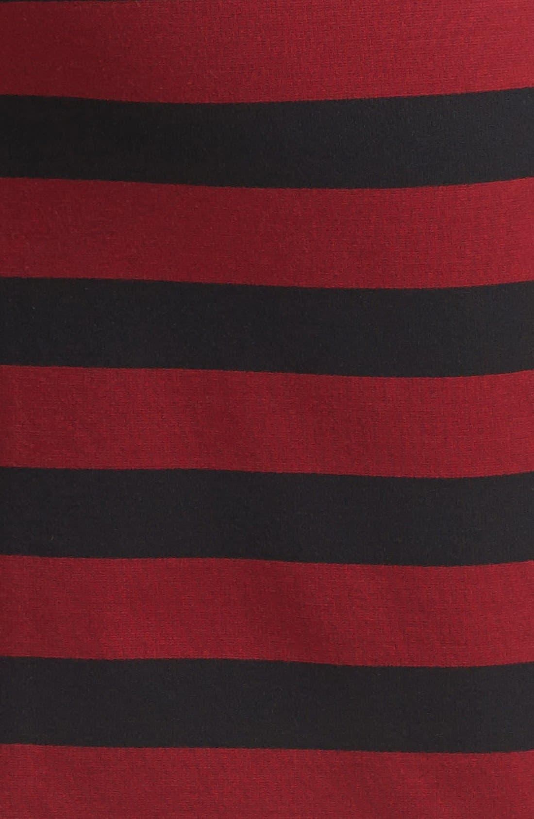 ,                             Faux Leather Trim Stripe Pencil Skirt,                             Alternate thumbnail 7, color,                             930