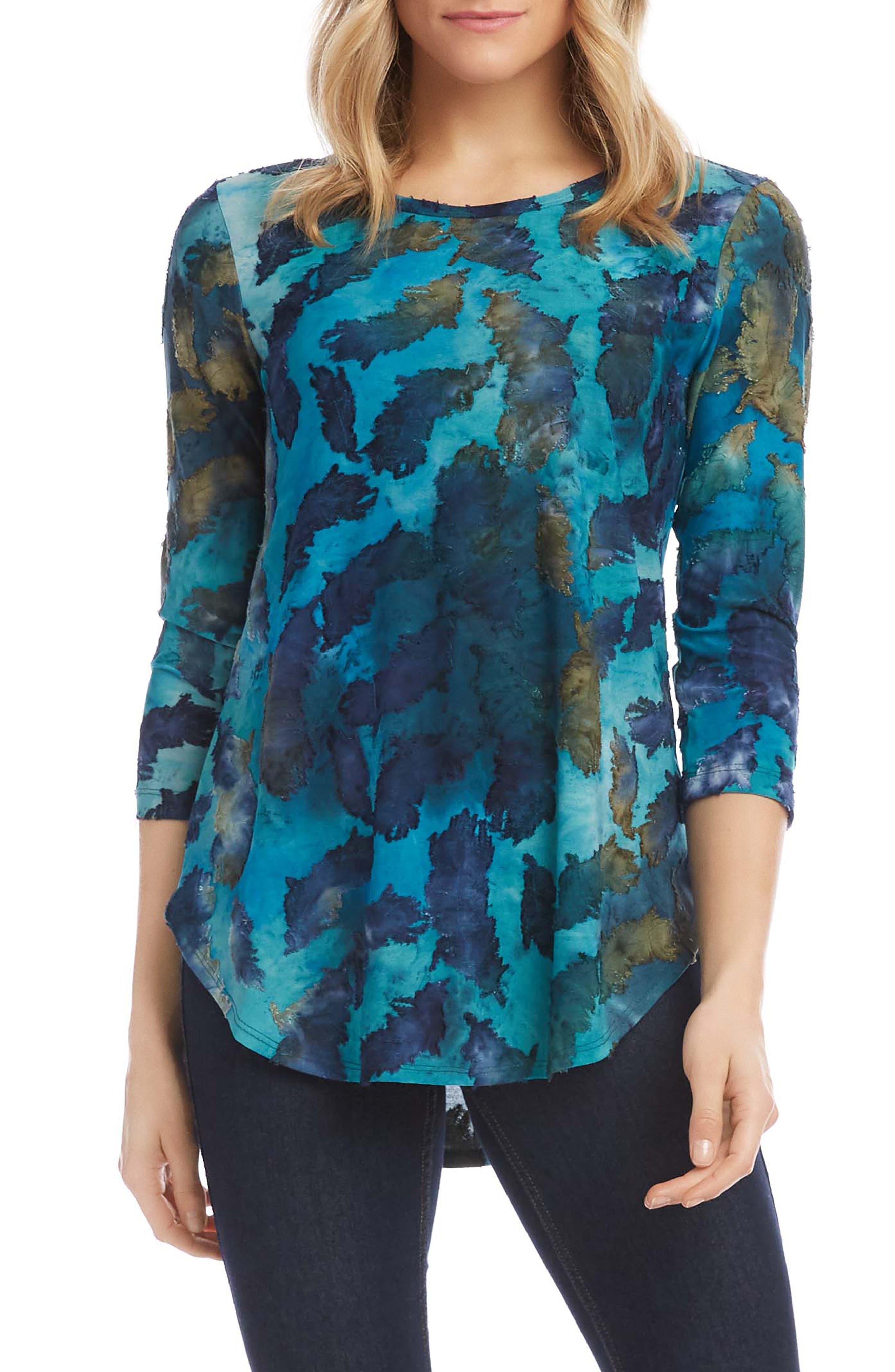 Tie Dye Shirttail Top