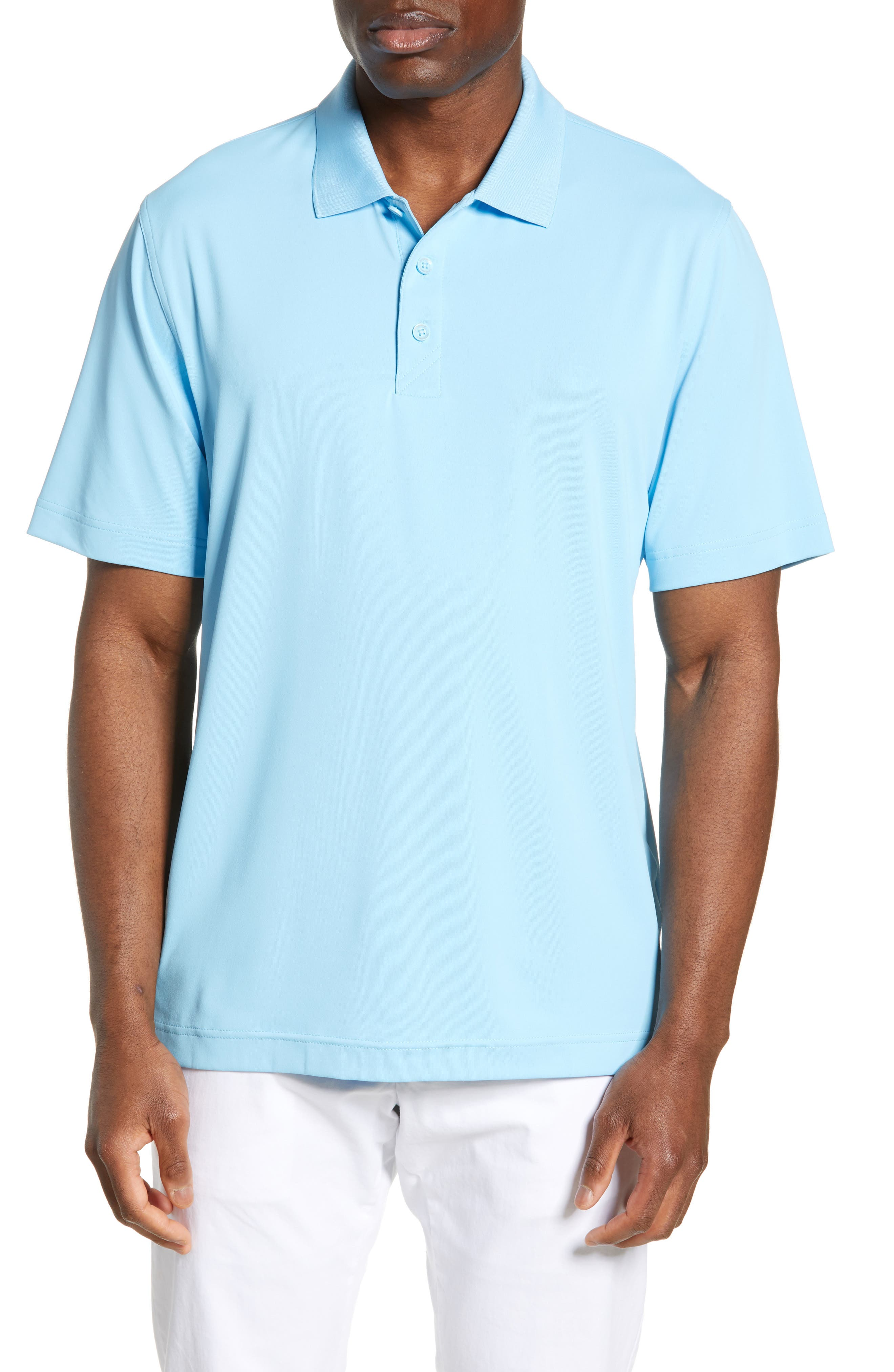 Cutter & Buck Forge Drytec Classic Fit Solid Performance Polo, Blue