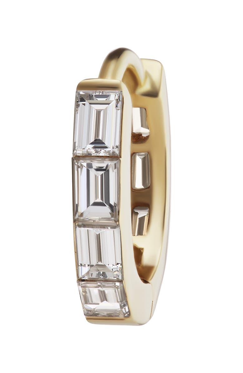 MARIA TASH Invisible Baguette Diamond Eternity Clicker, Main, color, YELLOW GOLD