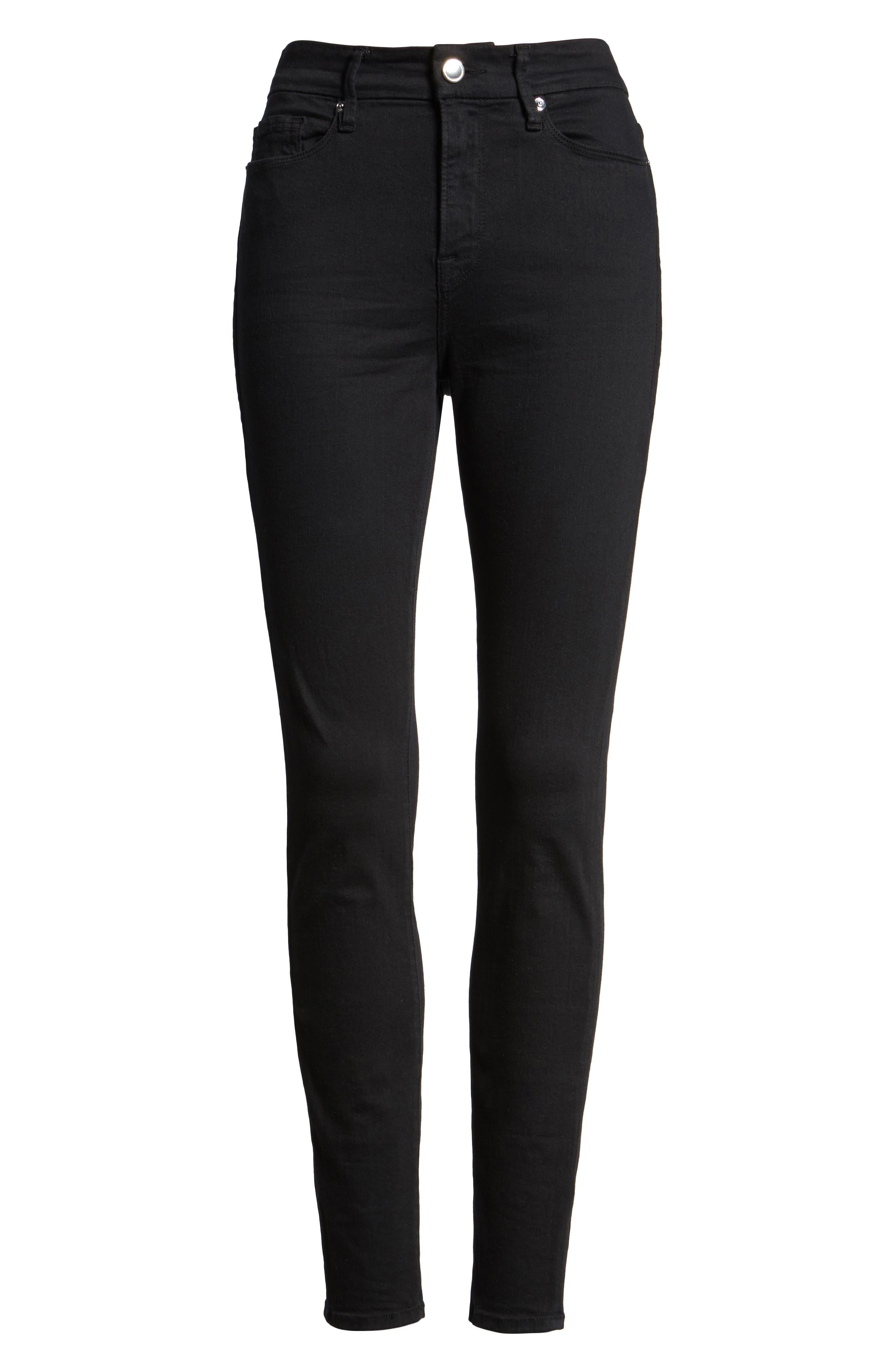 ,                             Good Legs High Rise Skinny Jeans,                             Alternate thumbnail 9, color,                             BLACK 001