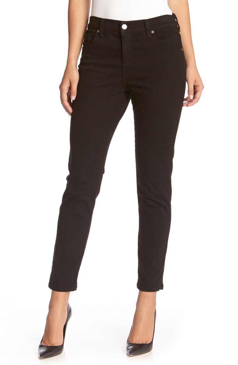 KAREN KANE 'Zuma' Stretch Crop Skinny Jeans, Main, color, BLACK