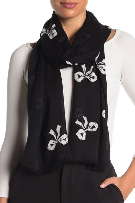 Image of kate spade new york bow print oblong scarf