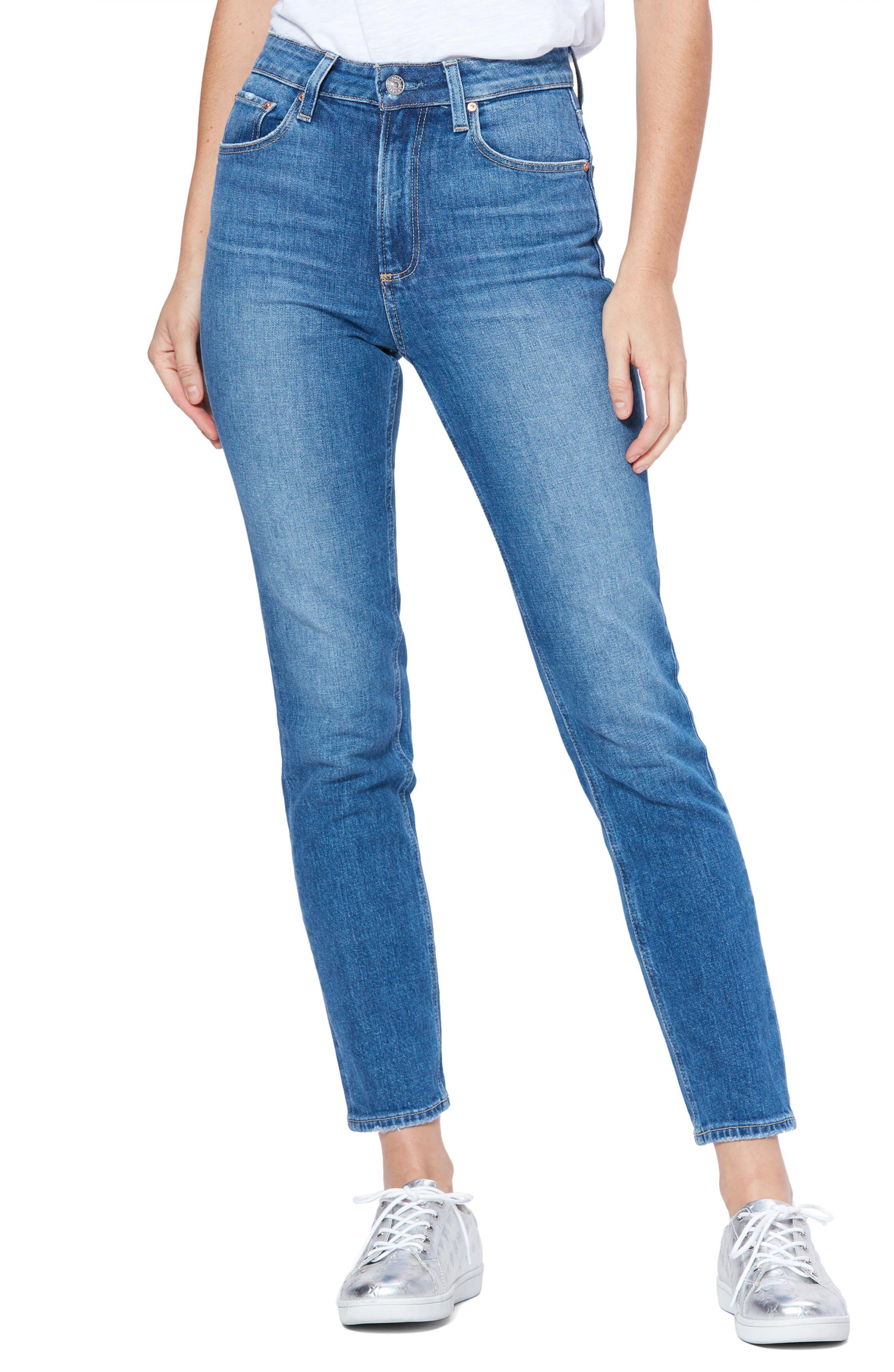 PAIGE Womens High Rise Sarah Straight Jean