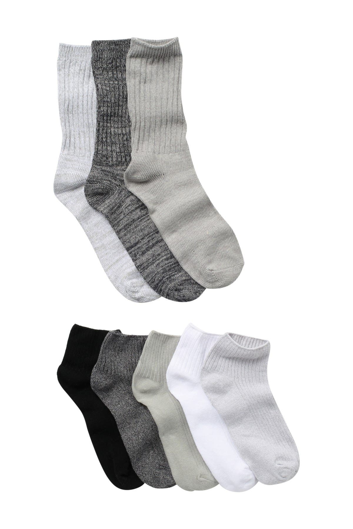 Image of Christian Siriano New York High Ankle & Crew Lengths Socks - Pack of 8