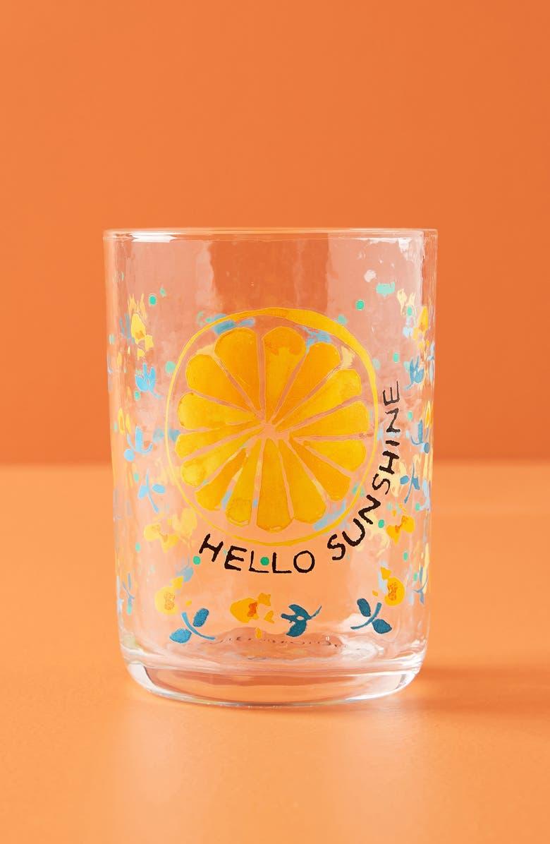 ANTHROPOLOGIE Gia Set of 4 Juice Glasses, Main, color, ORANGE