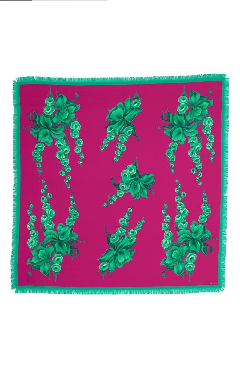 ETRO Bombay Floral Silk Scarf, Main, color, PINK