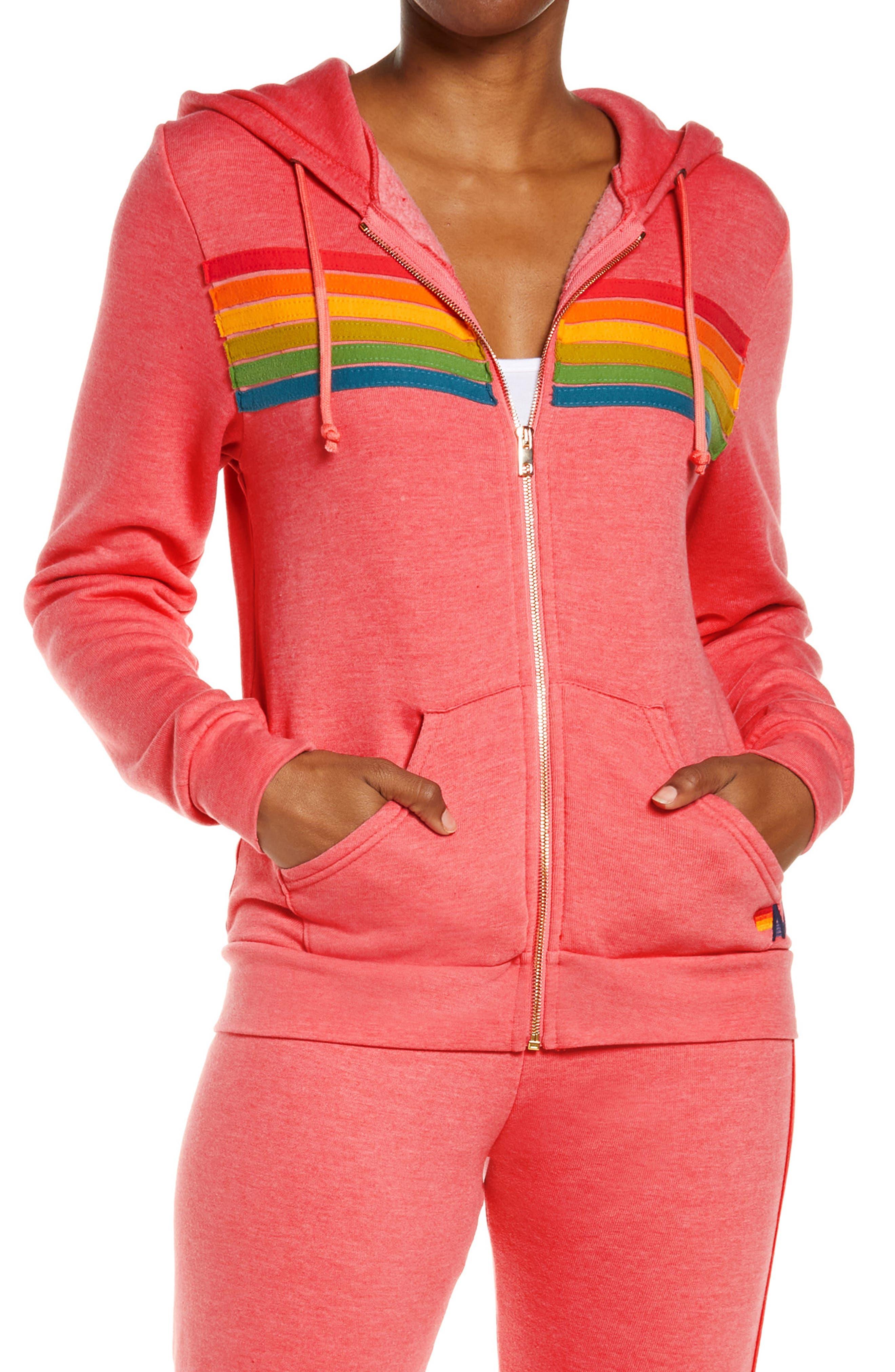 Stripe Full Zip Hoodie