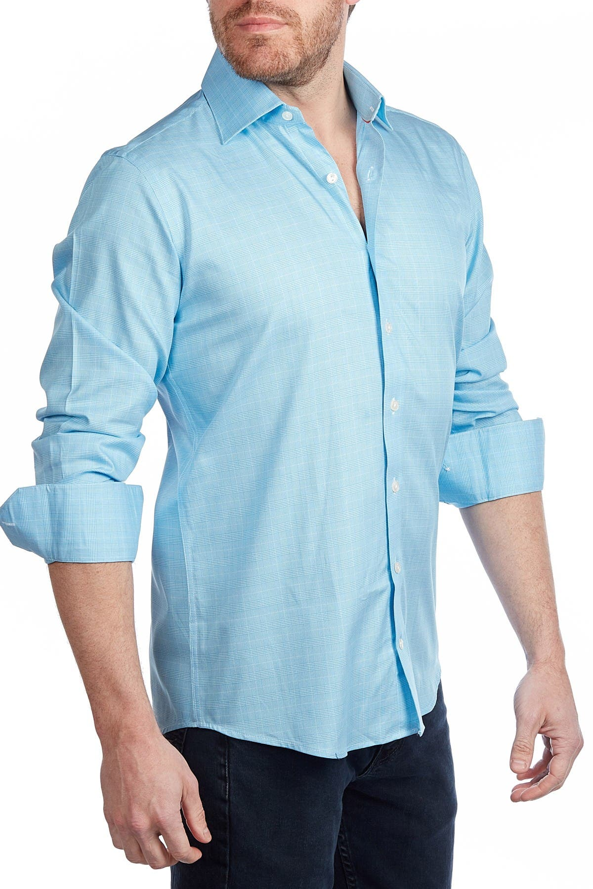Image of Levinas Plaid Tailored Fit Shirt