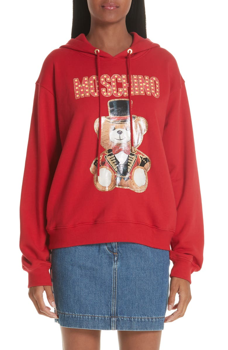 MOSCHINO Circus Teddy Sweatshirt, Main, color, 641
