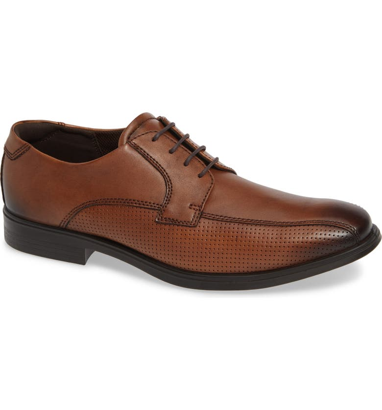 ECCO Melbourne Bike Toe Derby, Main, color, AMBER LEATHER