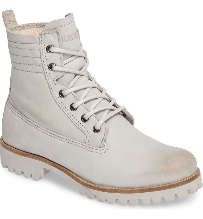 Blackstone OL22 Lace Up Boot With Genuine Shearling Lining Women